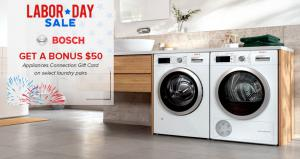 Appliances Connection 2019 Labor Day Sale: Bosch Laundry
