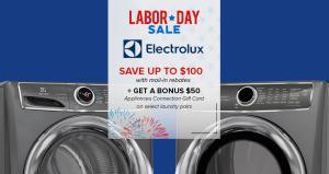 Appliances Connection 2019 Labor Day Sale: Electrolux Laundry