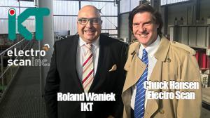 Roland Waniek, Managing Director, IKT, and Chuck Hansen, Chairman, Electro Scan Inc. at  IKT - Institute for Underground Infrastructure in Gelsenkirchen, Germany, February 2019.