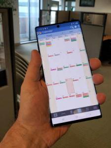 DejaOffice Month View on Galaxy Note 10 Plus