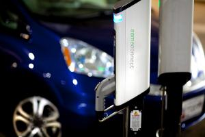 SemaConnect Series 6 smart networked EV charging stations on dual pedestal