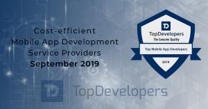 Cost- efficient mobile app development service providers of September 2019