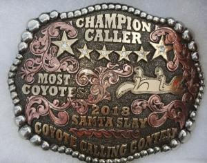 """Trophy"" Belt Buckle Awarded to the ""Winner"" of the Contest in 2018"