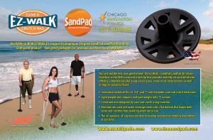 Trailblazing Mobility Product - EZ-Walk Cane & Crutch Pad