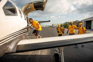 First team of Volunteer Ministers left from Florida on Saturday and flew into Freeport