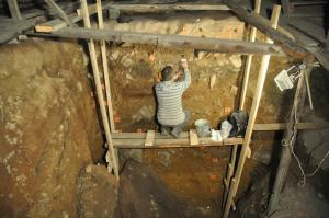 Geoarchaeologist Dr Mike Morley collected fossil samples from sedimentary deposits in the Denisova Cave area in Siberia