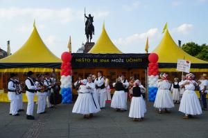 Dancers performed to the strains of traditional Croatian folk music.