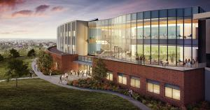 A computer rendering of the new facility at Gonzaga University, view from the south.