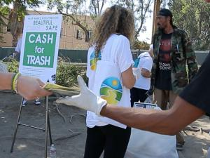 Collecting payment for the trash collected