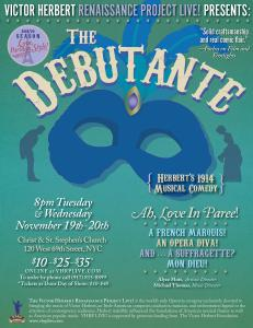 VHRP LIVE! Presents The Debutante Nov 19th & 20th in NYC, 8PM at Christ & St. Stephen's Church