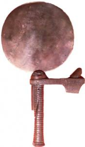 So-called ancient Egyptian Hand Mirror with Removable Handle