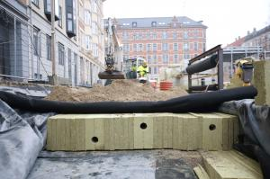 Rockflow is installed underneath Langeland Plads, a newly renovated public square in Frederiksberg, Denmark