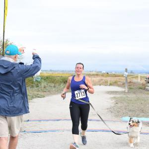 Even dogs can take part in the dash.