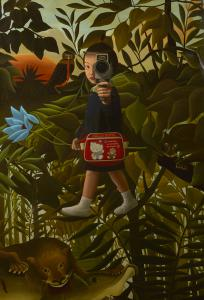 """Mitsuru Watanabe's """"Naoko Walking in Rousseau's Forest"""" (Rehs Contemporary Galleries, NYC)"""