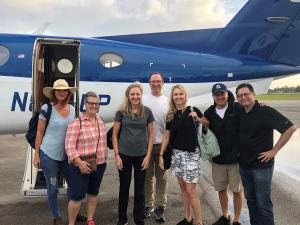 Animal Wellness team in action arriving in the Bahamas