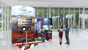 Smaller exhibition stand for InSight UK with Photo-Floor
