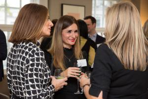 Women networking at the Women to Watch in HTL Index launch