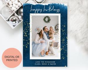 Happy Holidays Card by Ispirato Printables
