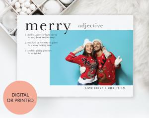 Merry - Holiday Card by Ispirato Printables