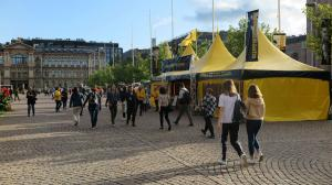 Scientology European Goodwill Tour brings its bright yellow tent to Helsinki.
