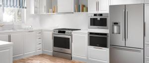 Appliances Connection 2019 Fall into Savings Event: Bosch Kitchen Package with Slide-In Range, Wall Oven,  Built-In Coffee Machine, and French Door Refrigerator