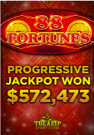 Progressive Jackpot on 88 Fortunes Slot Machine over $472,000