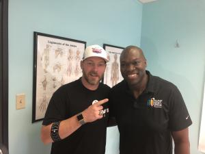 iVBars CEO Aaron Keith and former Yankees World Series Pitcher Phil Coke