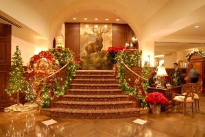 Holiday Decor at The Houstonian Hotel Club and Spa in Houston Texas