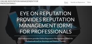 EyeOnReputation Website, Online Reputation Management, Bethesda, MD