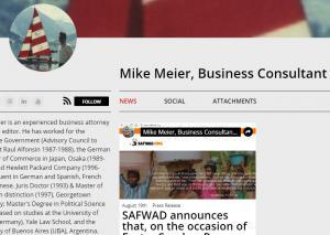News about Mike Meier regarding business matters