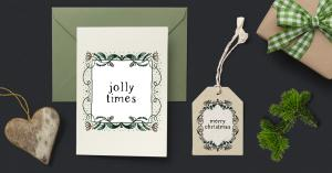 A set of Chistmas cards and tags made with Wallifyer clipart
